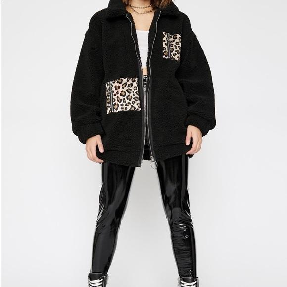 Dolls Kill Jackets & Blazers - Dollskill Savage Taught me Fleece Jacket